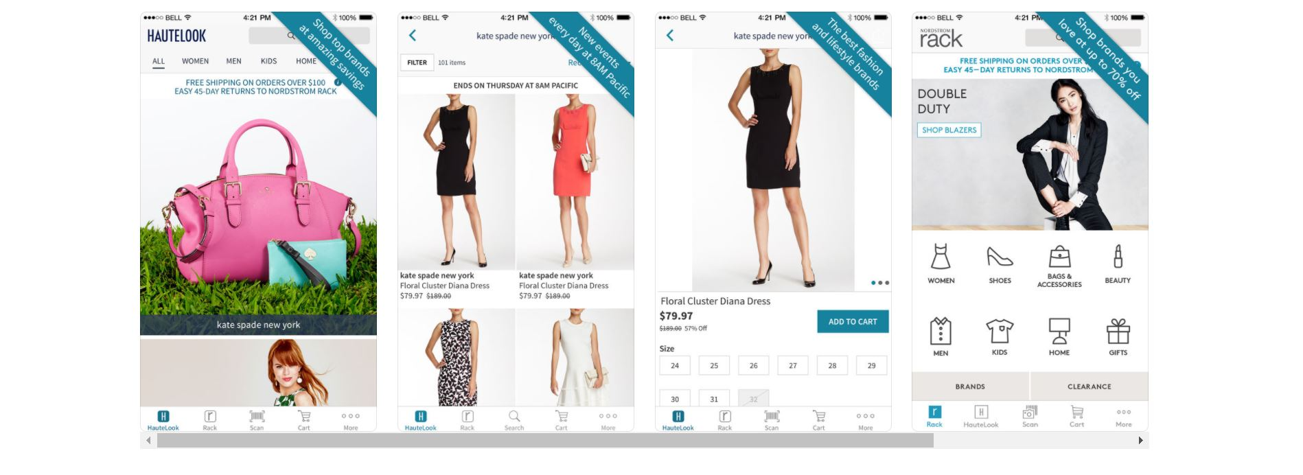 nordstrom hautelook on iphone